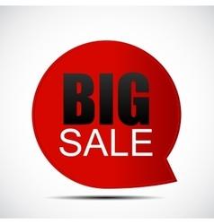 Speech Bubble Big Sale Label vector