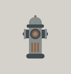 Street fire hydrant vector