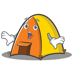 Surprised tent character cartoon style vector