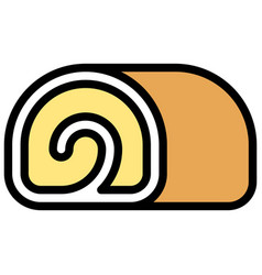Swiss roll icon bakery and baking related vector