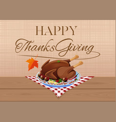 Thanksgiving day design with fried festive turkey vector