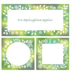 three abstract springtime frames vector image