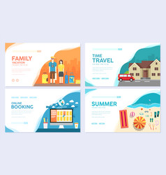 tour of the world traditional travel brochur vector image