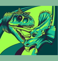 Tracing dinosaur tyrannosaurus vector