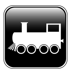 Train button vector image