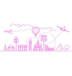 Travel destinations concept vector
