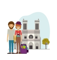 Traveler lifestyle design vector image