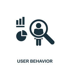 user behavior icon monochrome style design from vector image
