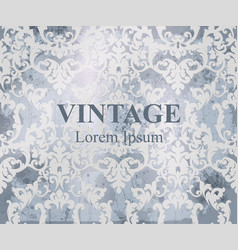 vintage baroque pattern royal texture vector image