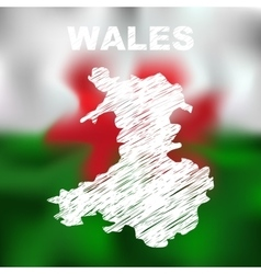 Wales Abstract Map vector image