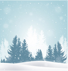 Winter snowy landscape vector