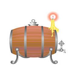 wooden barrel for wine vector image