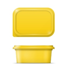 Yellow margarine spread template vector