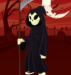 young grim reaper vector image