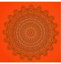 arabesque orange vector image