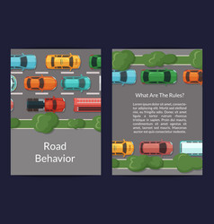 cars on the road with grass and trees on vector image