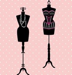 Mannequin Silhouette Fashion Dress Form vector image