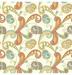 seamless floral spring abstract pattern vector image vector image