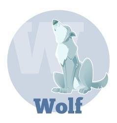ABC Cartoon Wolf3 vector image