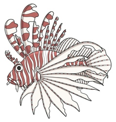Color image lionfish vector image vector image