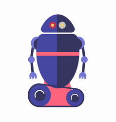 cute blue robot vector image vector image