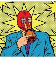 Gas mask vintage rubber vector image
