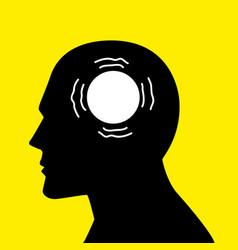 Mind concept graphic for parkinsons disease vector