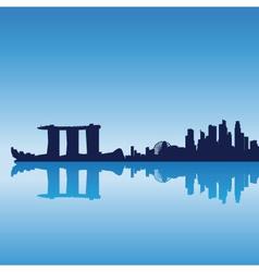 singapore silhouette skyline vector image vector image