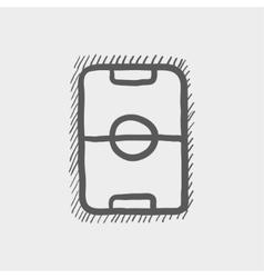 Soccer field sketch icon vector image vector image