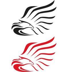 Eagle symbols or mascot vector image