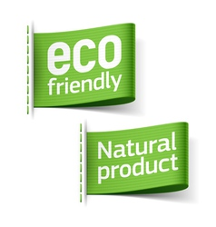 Eco friendly and Natural product labels vector image vector image