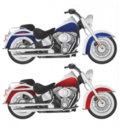 motorcycle chopper detail vector image vector image