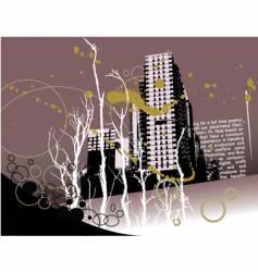 city grunge landscape vector image vector image