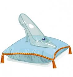 crystal slipper vector image