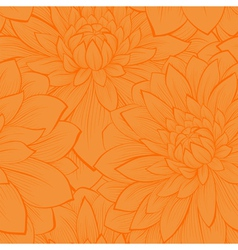 seamless pattern with blooming yellow dahlias vector image vector image