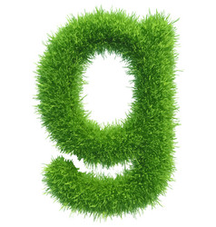 small grass letter g on white background vector image
