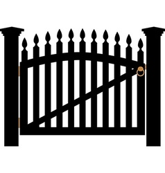 White gate with handle vector image