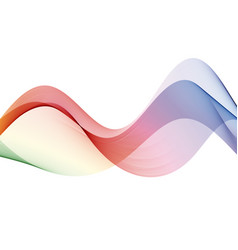 abstract motion smooth color wave curve rainbow vector image