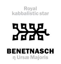 Astrology alkaid benetnasch the royal behenian vector