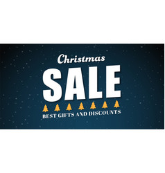 Banner template background for christmas sales vector