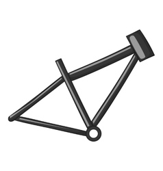 Bicycle frame icon gray monochrome style vector