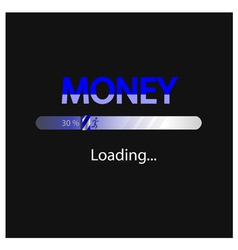 business and money loading background vector image