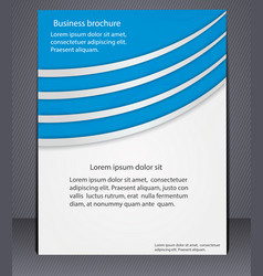 business brochure with elements of lines vector image