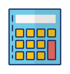 calculator math financial vector image