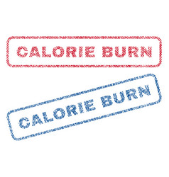 Calorie burn textile stamps vector