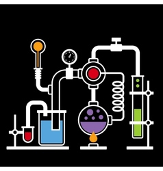 Chemistry Laboratory Infographic Set 2 vector