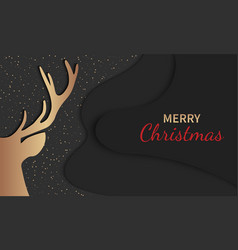 christmas deer holiday greeting card party vector image