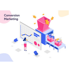 conversion marketing isometric modern flat vector image