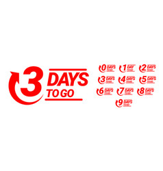 countdown left days banner count time sale vector image