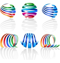 Decorative elements for the logo vector image